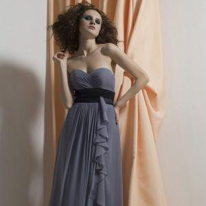 Liz Fields Bridesmaid Dress 503 Charcoal/Black